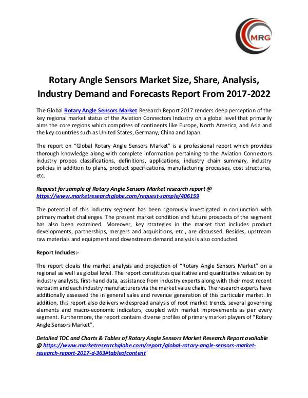 Rotary Angle Sensors Market Size, Share, Analysis,