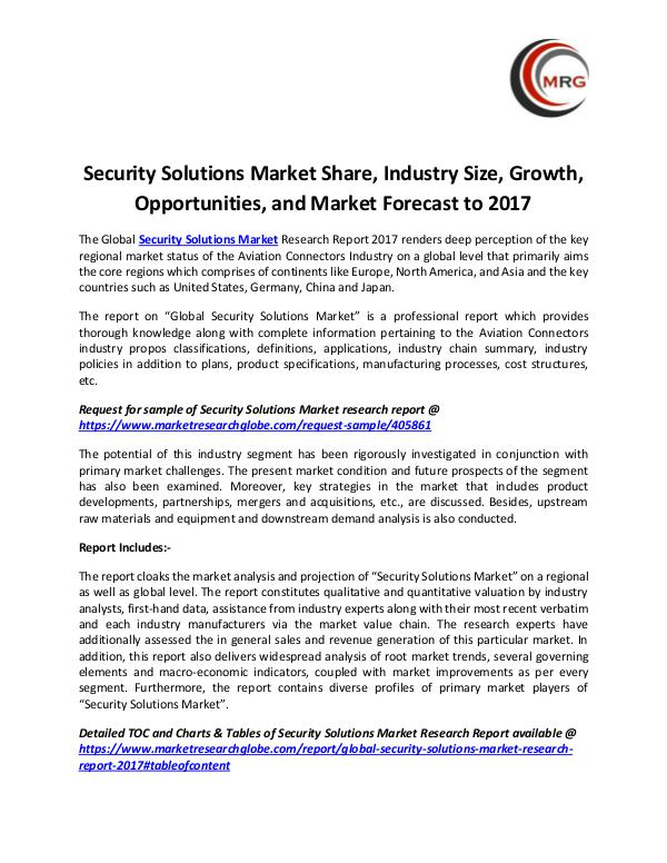 QY Research Groups Security Solutions Market Share, Industry Size, Gr