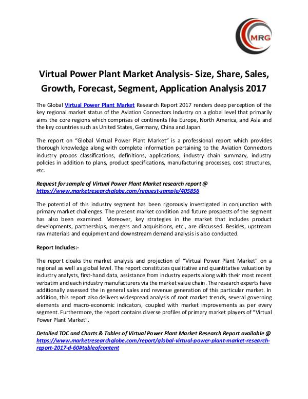 Virtual Power Plant Market Analysis- Size, Share,