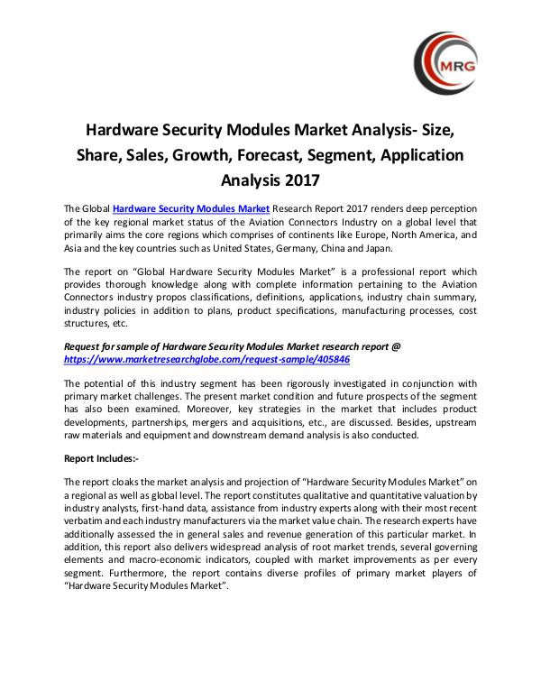 Hardware Security Modules Market Analysis- Size, S
