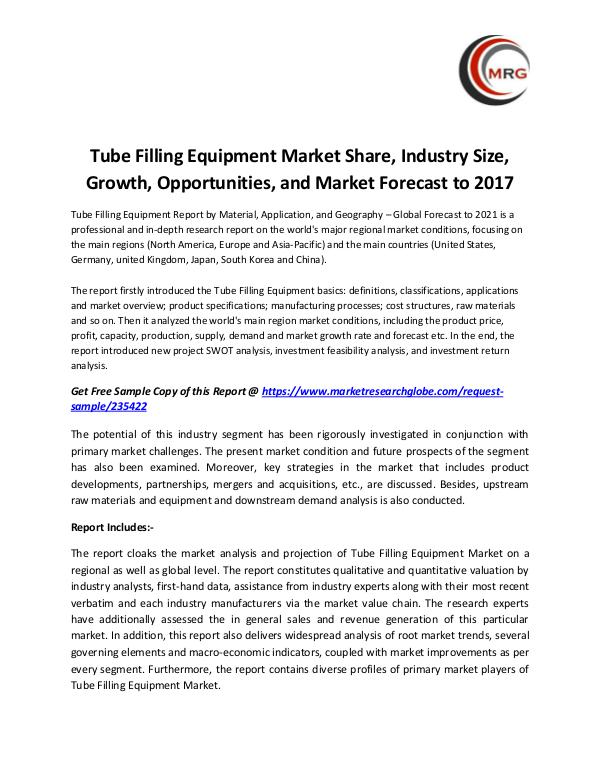 QY Research Groups Tube Filling Equipment Market Share, Industry Size