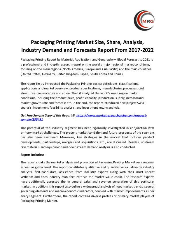 QY Research Groups Packaging Printing Market Size, Share, Analysis, I