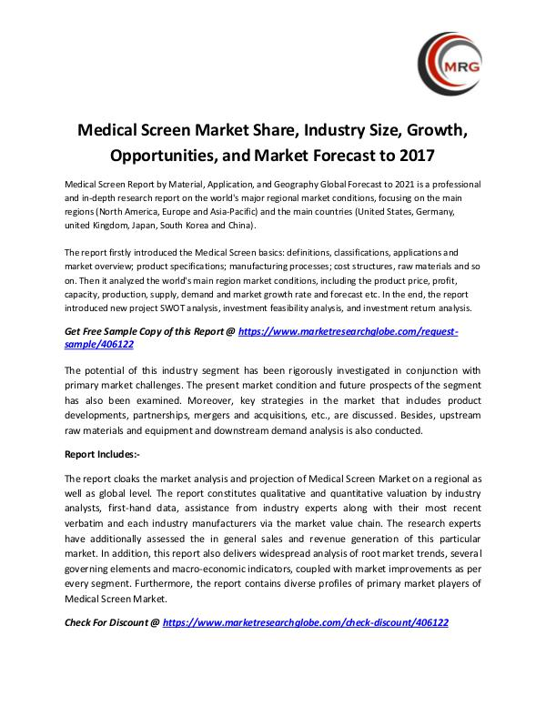 QY Research Groups Medical Screen Market Share, Industry Size, Growth