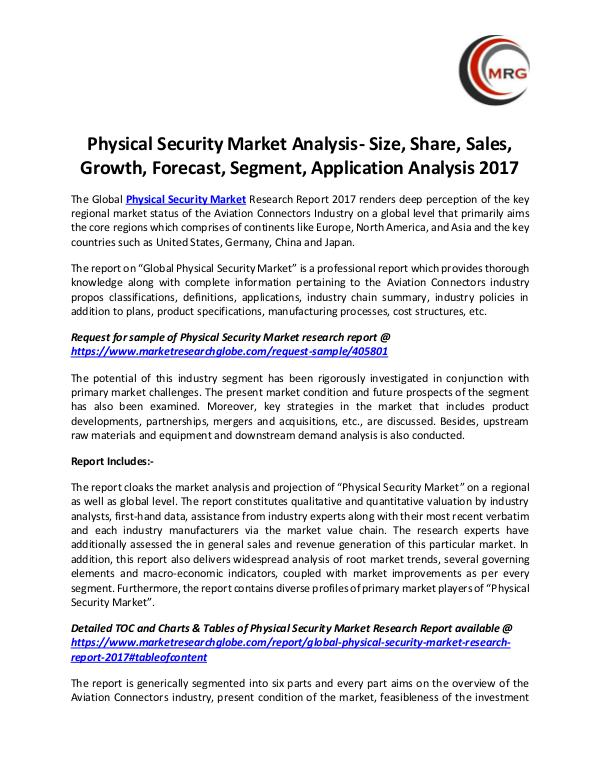 QY Research Groups Physical Security Market Analysis- Size, Share, Sa