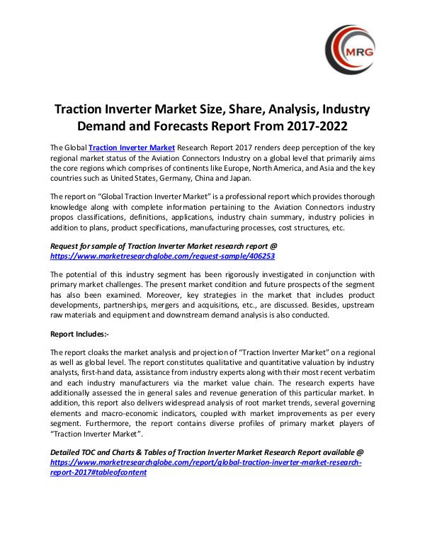 Traction Inverter Market Size, Share, Analysis, In