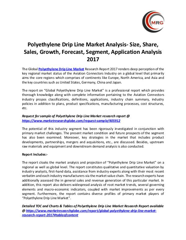 Polyethylene Drip Line Market Analysis- Size, Shar