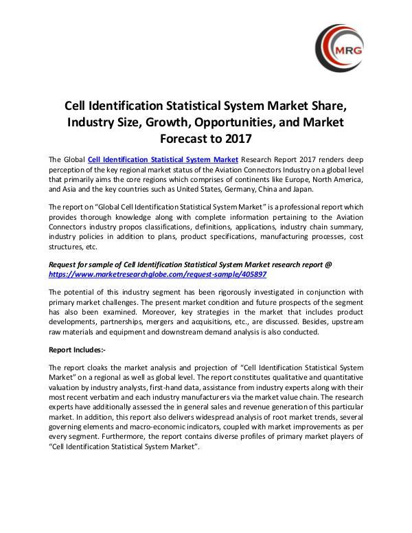 Cell Identification Statistical System Market Shar