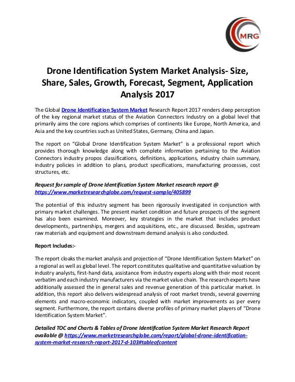 Drone Identification System Market Analysis- Size,