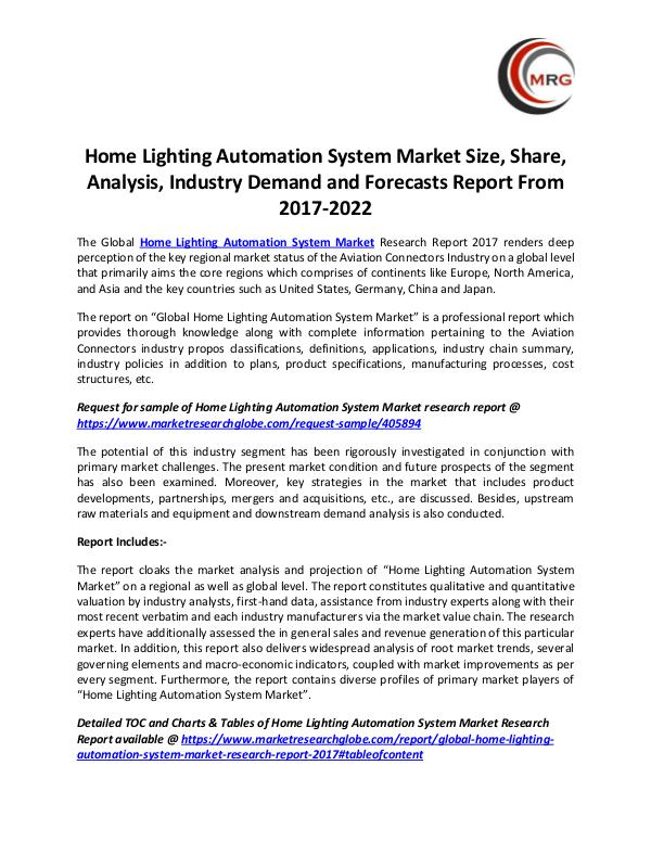 QY Research Groups Home Lighting Automation System Market Size, Share