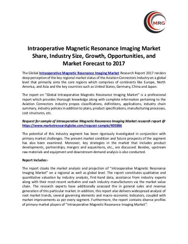 Intraoperative Magnetic Resonance Imaging Market S