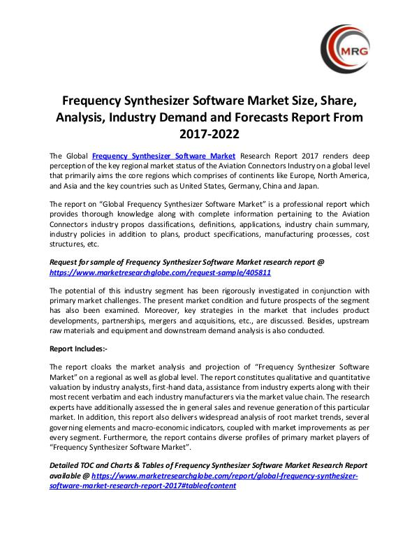 Frequency Synthesizer Software Market Size, Share,