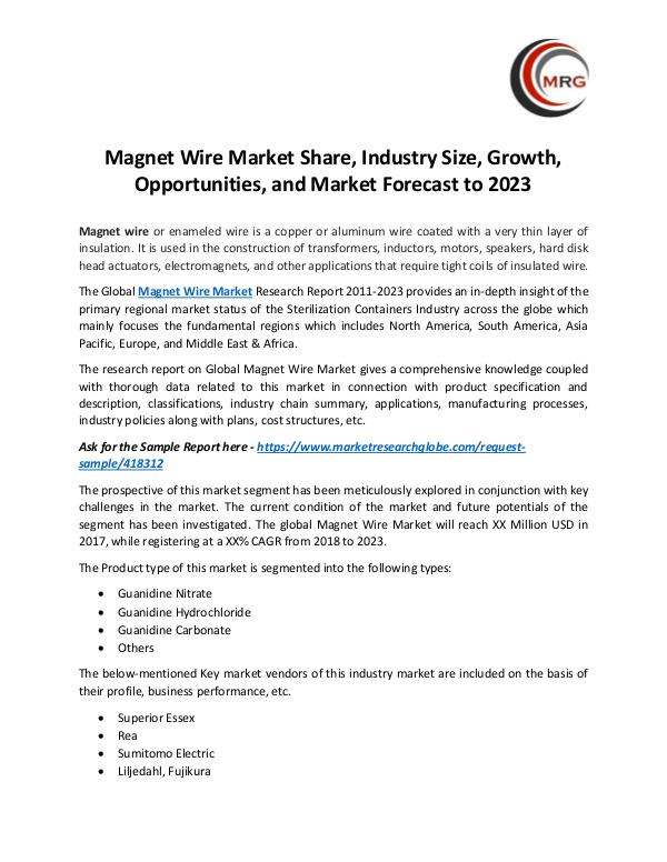Magnet Wire Market Share, Industry Size, Growth, O