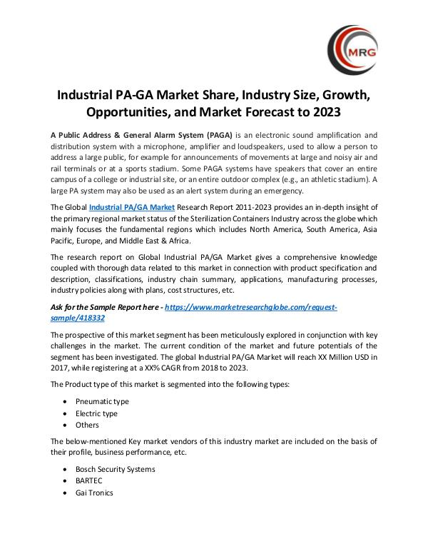 Industrial PA-GA Market Share, Industry Size, Grow