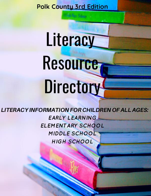 Polk County's  Literacy Resource Directory Literacy Full Directory 3rd Edition Final