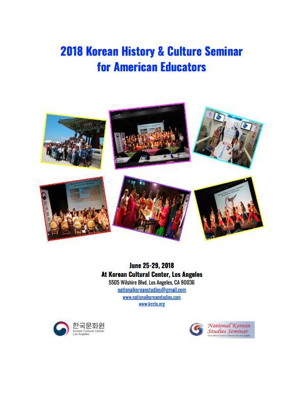 2018 NKS Handbook 2018 NKS Seminar Handbook