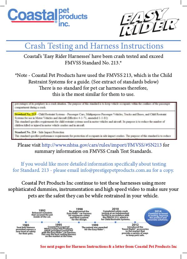 Crash Testing and Harness Instructions