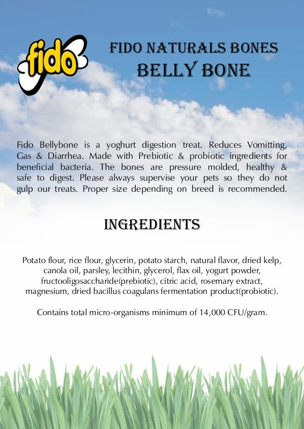 Fido Naturals Bones BELLY BONE