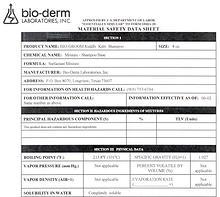 Bio-Groom MSDS