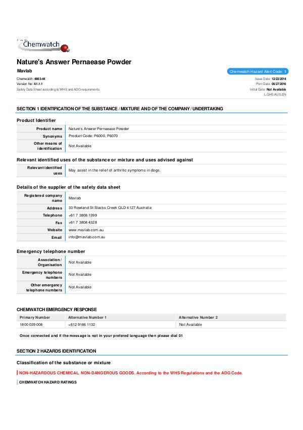 84-FP6000_6070 - Pernaease Powder