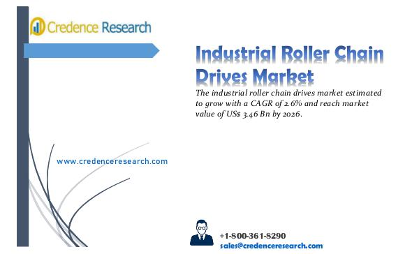 Market Outlook By Credence Research Industrial Roller Chain Drives Market 2018-2026