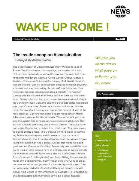 julius Caesar newsletter Finished 1