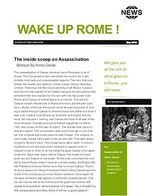 julius Caesar newsletter Finished