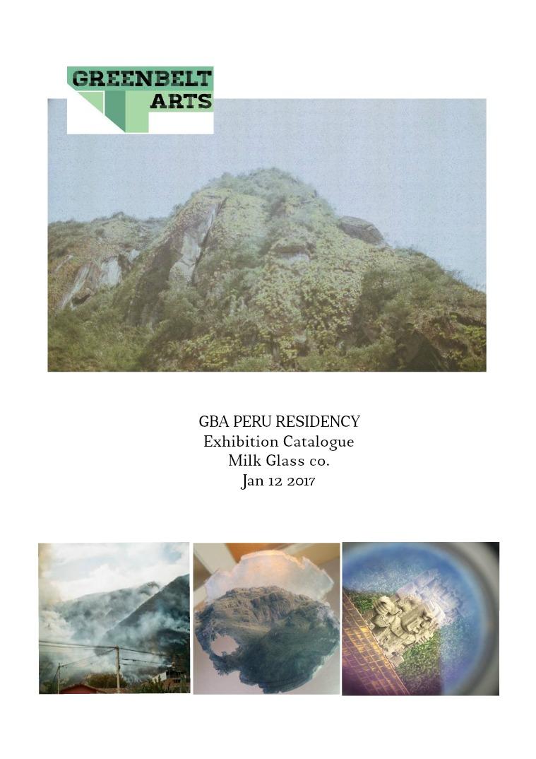 GBA Peru Exhibition Catalogue Fall/Winter