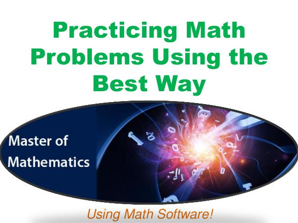 Practicing Math Problems Using the Best Way 1