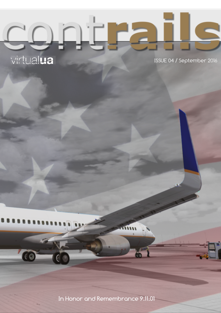 Virtual United Airlines Contrails September 2016