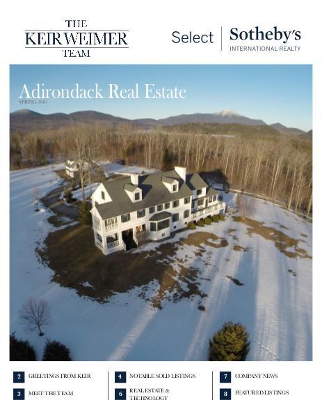 Adirondack Real Estate Market Report | Spring 2016 Vol. 1