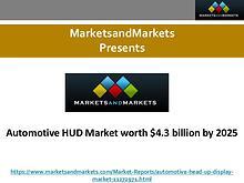 Automotive HUD Market worth $4.3 billion by 2025