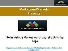Solar Vehicle Market worth 107,380 Units by 2030