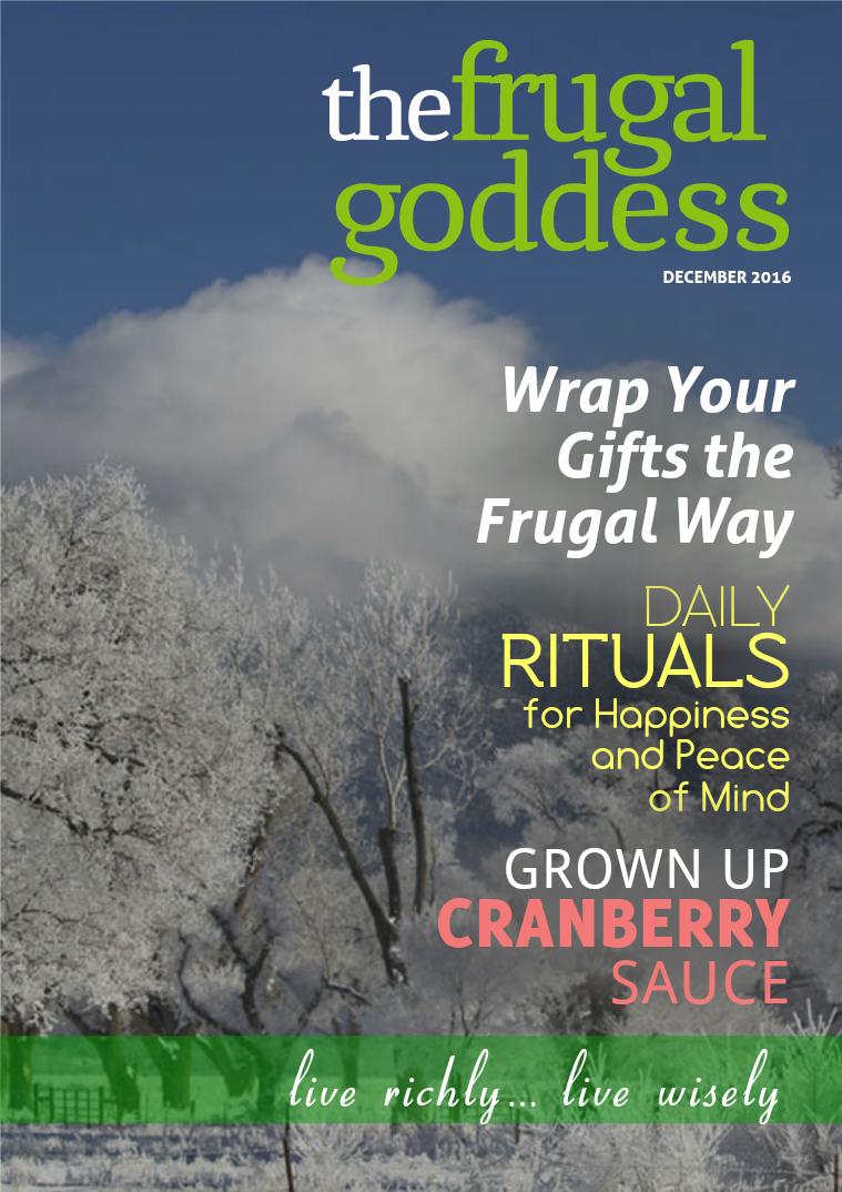 The Frugal Goddess Monthly December 2016