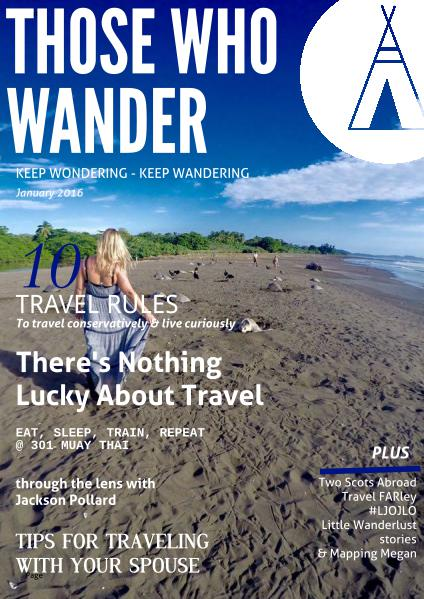 Those Who Wander Magazine January 2016