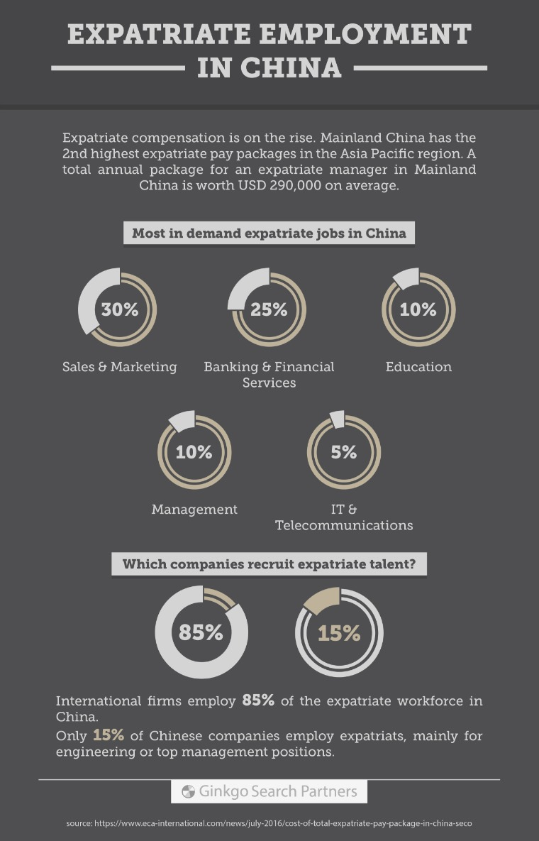 Executive Search in China (Articles) Expatriate Employment in China (Infographic)