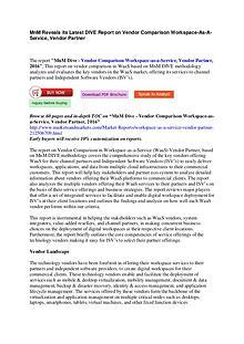MnM DIVE - Vendor Comparison Workspace-as-a-Service, Vendor Partner,