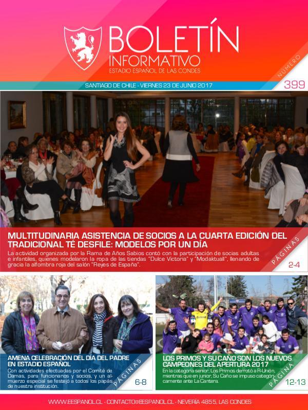 Boletín Informativo Estadio Español 399
