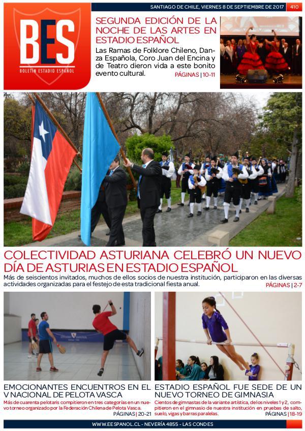 Boletín Informativo Estadio Español N° 410