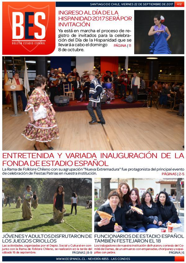 Boletín Informativo Estadio Español N° 412
