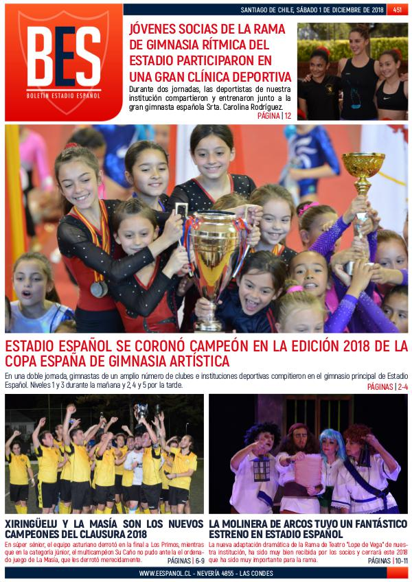 Boletín Informativo Estadio Español N° 451