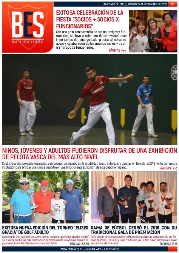 Boletín Informativo Estadio Español N° 452