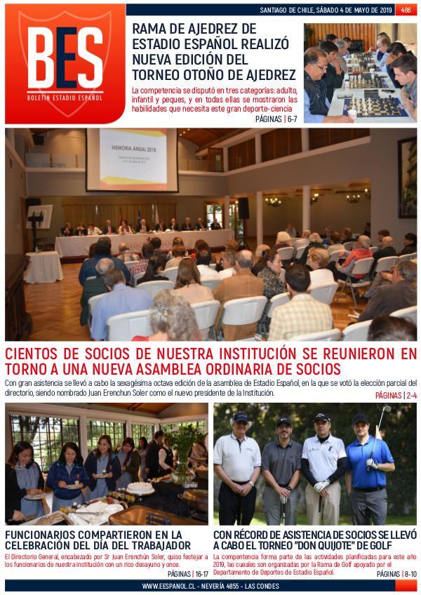 Boletín Informativo Estadio Español N° 466