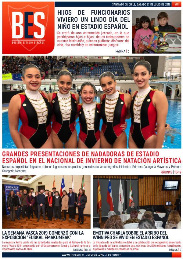 Boletín Informativo Estadio Español N° 478