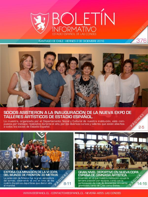 Boletín Informativo Estadio Español 376