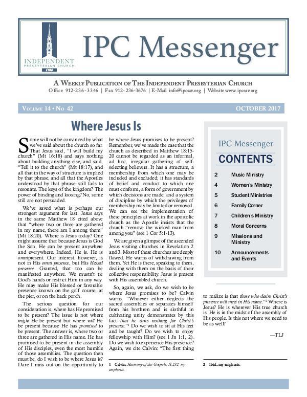 IPC Messenger 2017 October 2017