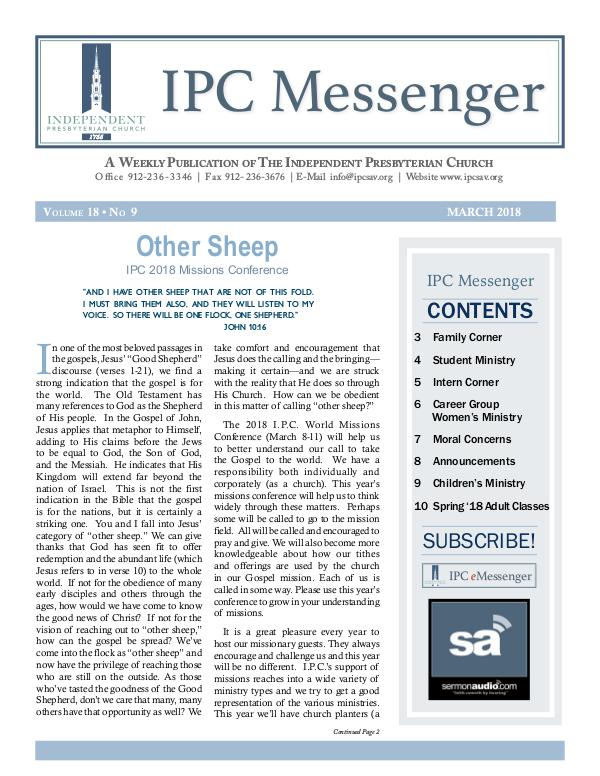 2018 Messenger March 2018 Messenger