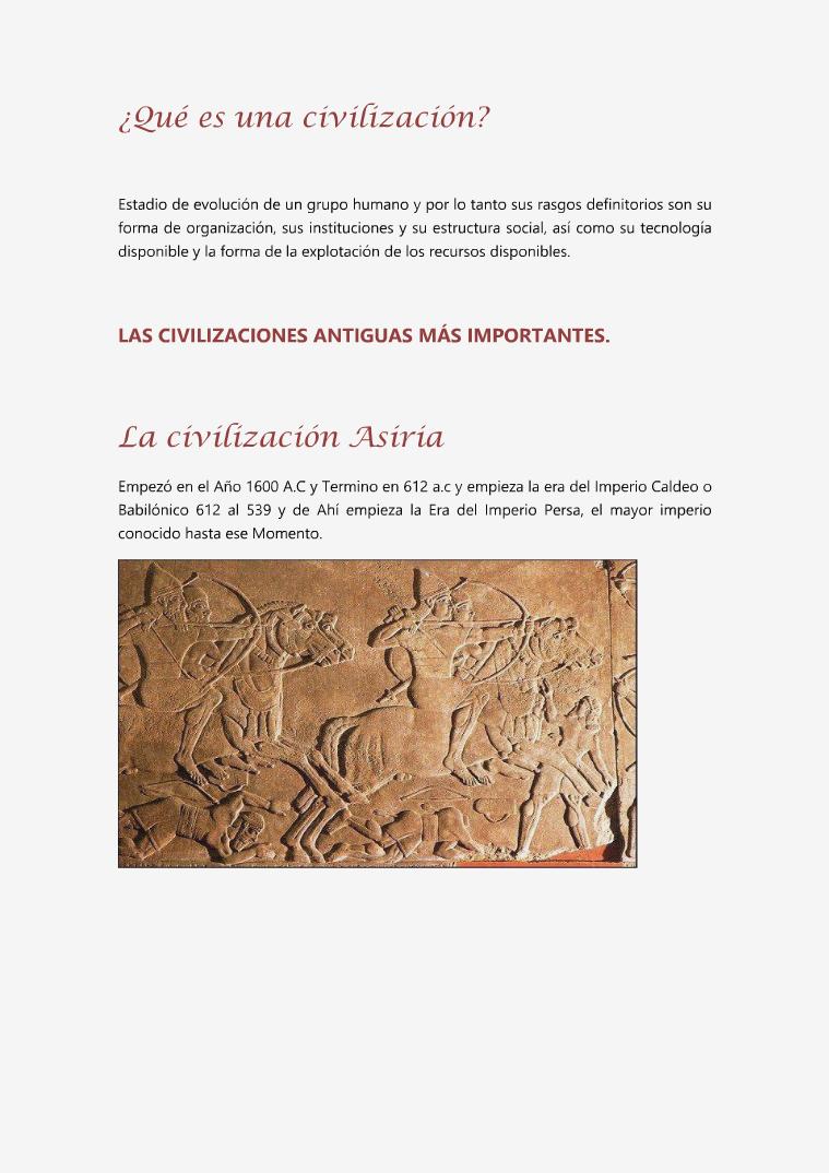 Las Civilizaciones primera edición