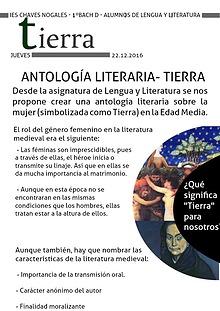 Antología literaria medieval - Tierra