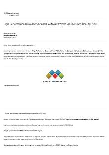 High Performance Data Analytics Market worth 78.26 Billion USD by 202