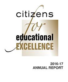 Citizens for Educational Excellence 2016 - 2017 Annual Report